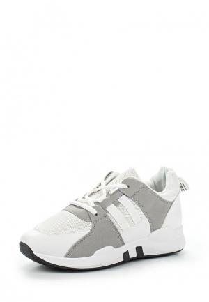 Кеды на танкетке Style Shoes. Цвет: белый