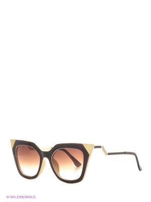 Солнцезащитные очки Vittorio Richi. Цвет: бежевый, коричневый