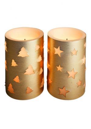 Светодиодная свеча, 2 штуки Heine Home. Цвет: золотистый