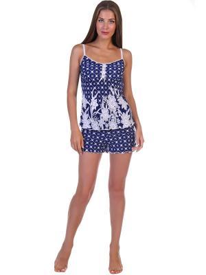 Пижама Эстер Vilana. Цвет: синий