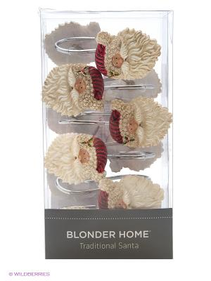 12 крючков для душевой шторки Blonder Home. Цвет: красный