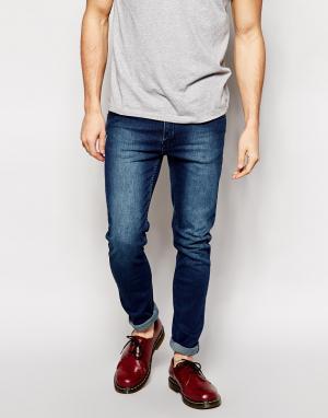 Cheap Monday Облегающие джинсы цвета темный индиго. Цвет: синий