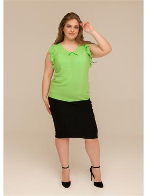Блузка ORHIDEA. Цвет: зеленый