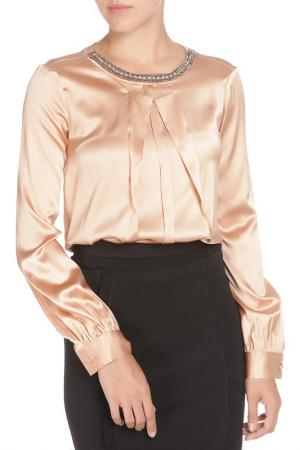 Полуприлегающая блузка с бисером Cristina Effe. Цвет: 2016-6a 5, terra di siena