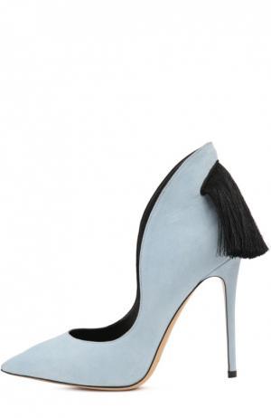 Замшевые туфли Louisa с кисточками Aleksandersiradekian. Цвет: светло-голубой