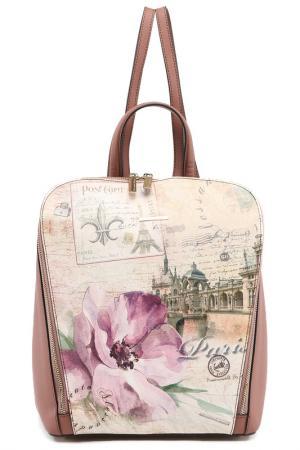 Рюкзак Alessandro Beato. Цвет: розовый, бежевый