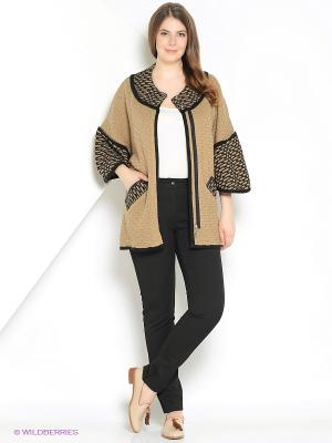 Жакет Milana Style. Цвет: коричневый