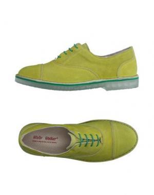 Обувь на шнурках WALLY WALKER. Цвет: кислотно-зеленый