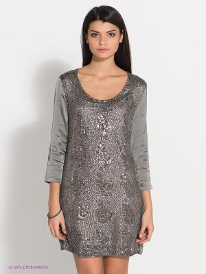 Платье RARE. Цвет: серый
