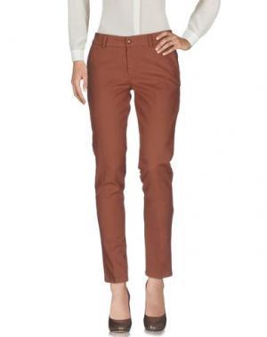 Повседневные брюки TRY ME. Цвет: коричневый