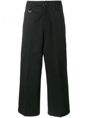 Укороченные широкие брюки Sophnet.. Цвет: чёрный
