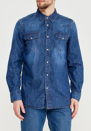 Рубашка джинсовая Mustang. Цвет: синий