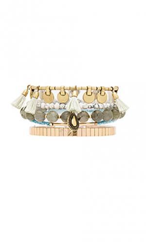 Набор браслетов heart wonder Samantha Wills. Цвет: металлический золотой