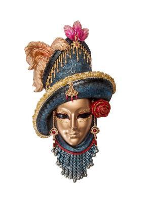Венецианская маска Леди в шляпе Veronese. Цвет: бронзовый