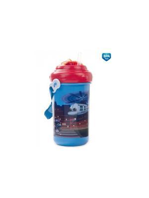 Поильник с трубочкой 4/102 Canpol babies. Цвет: синий, красный