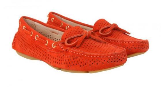 Красные женские мокасины бренда RODOLFO VALERI