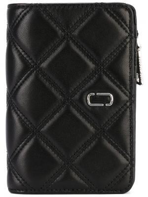 Стеганый кошелек Marc Jacobs. Цвет: чёрный