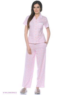Пижама Eileen West. Цвет: персиковый, сиреневый