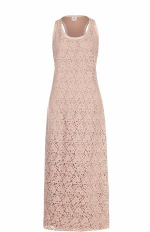 Кружевное платье-макси без рукавов Deha. Цвет: бежевый