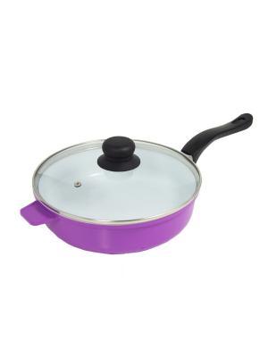 Сковорода с керамическим покрытием BH 6524 BOHMANN. Цвет: фиолетовый