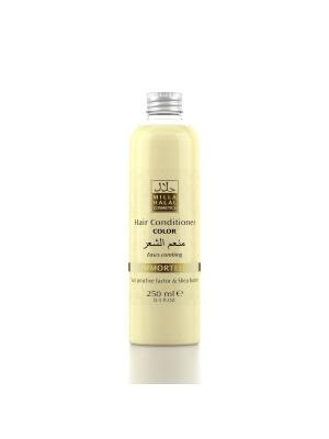 Кондиционер для окрашенных волос с маслом ши (карите) и защитным уф-фактором IMMORTELLE MILLA HALAL COSMETICS. Цвет: желтый, белый