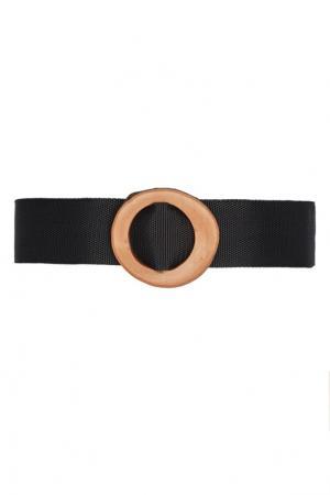 Ремень с деревянной пряжкой Ruban. Цвет: черный