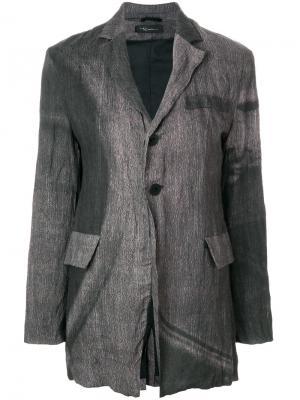 Пиджак с эффектом помятости Barbara Bologna. Цвет: серый