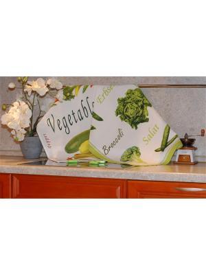 Набор печатных полотенец 50х70 2 штуки SET-1  (Брокколи, Овощи) в пакете ТекСтиль для дома. Цвет: белый, желтый, зеленый, красный, салатовый