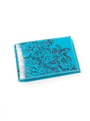 Визитница карманная BEFLER. Цвет: бирюзовый