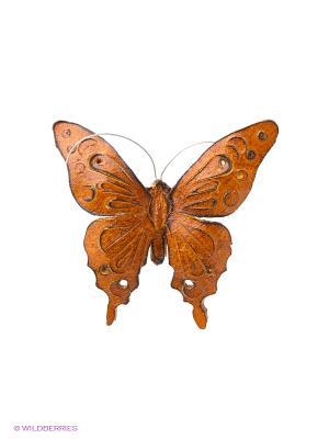 Брошь Бабочка Мастер ГРиСС. Цвет: рыжий, желтый, оранжевый