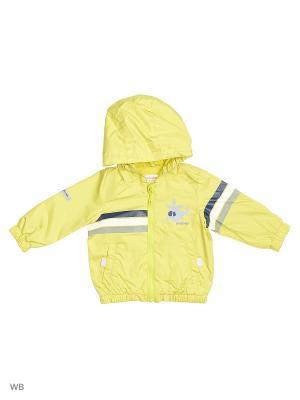 Куртка PlayToday. Цвет: желтый, белый, черный, серый