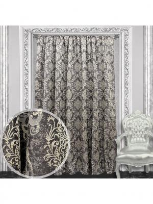 Портьера Amore Mio Жаккард  200*270 см 1 шт Коричневый. Цвет: коричневый