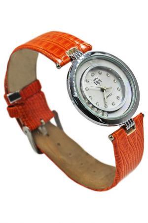 Часы Taya. Цвет: серебристый, оранжевый