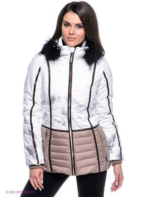 Куртка Baon. Цвет: белый, бежевый