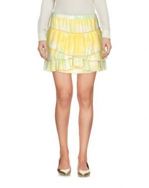 Мини-юбка MONICA •LENDINEZ. Цвет: желтый