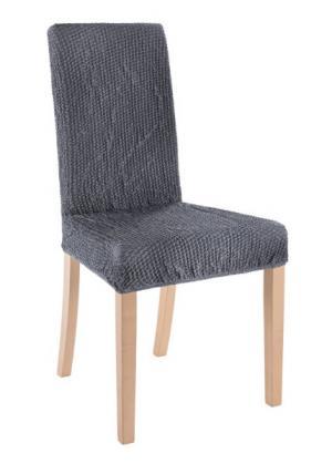 Чехол для стула Жатый меланж (антрацитовый) bonprix. Цвет: антрацитовый