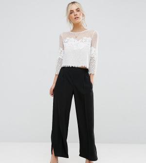 New Look Petite Широкие брюки. Цвет: черный