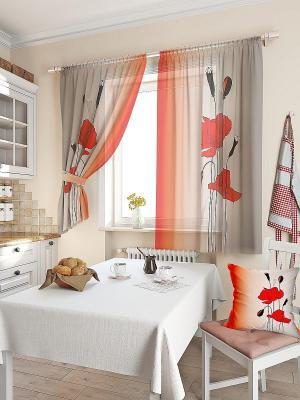 Комплект  штор Лери ТОМДОМ. Цвет: черный, серый, бордовый, красный