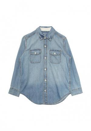 Рубашка джинсовая Gap. Цвет: голубой