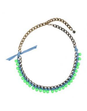 Ожерелье LANVIN. Цвет: кислотно-зеленый
