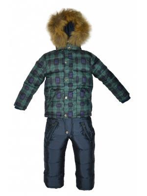 Комплект(куртка, полукомбинезон) BORELLI. Цвет: зеленый