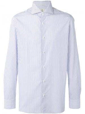 Рубашка в полоску Borrelli. Цвет: белый