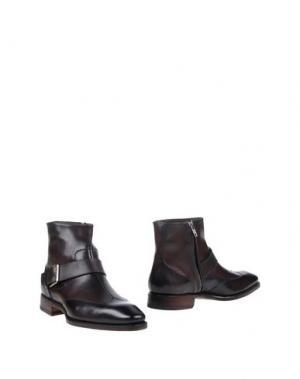 Полусапоги и высокие ботинки ZENOBI. Цвет: баклажанный