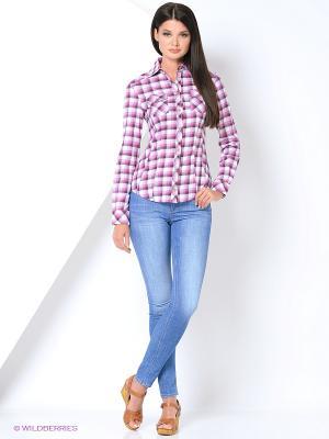 Рубашка RUXARA. Цвет: розовый