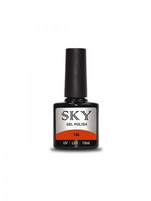 Гель-лак SKY 10 мл №146,. Цвет: красный, оранжевый
