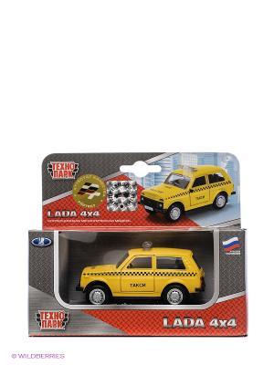 Машина Технопарк Такси. Цвет: желтый