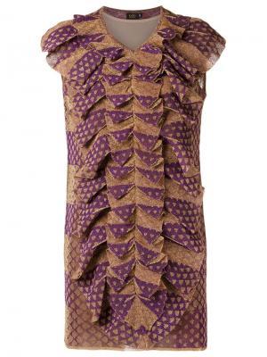 Ruffled dress Gig. Цвет: металлический