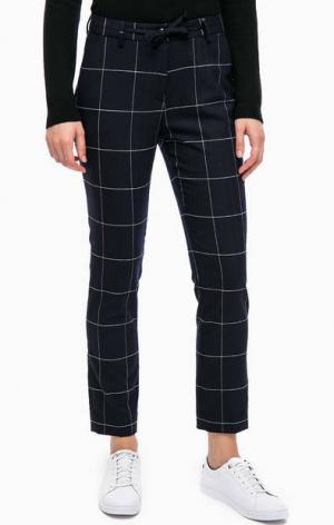 Зауженные брюки в крупную клетку Gant. Цвет: синий
