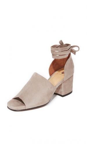 Замшевые туфли на каблуках Metta City Hudson London. Цвет: голубой