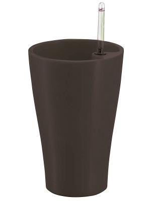 GREEN APPLE Круглый горшок с автополивом 17*17*26.5 венге. Цвет: коричневый